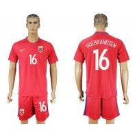 Norway #16 Gulbrandsen Home Soccer Country Jersey
