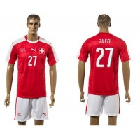 Switzerland #27 Zuffi Red Home Soccer Country Jersey