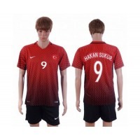 Turkey #9 Hakan Sukur Home Soccer Country Jersey