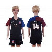 USA #14 Acosta Away Kid Soccer Country Jersey