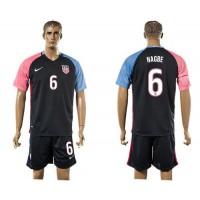 USA #6 Nagbe Away Soccer Country Jersey