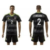 Wales #2 Williams Black Away Soccer Club Jersey