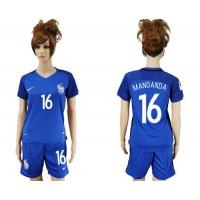 Women's France #16 Mandanda Home Soccer Country Jersey