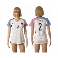 Women's France #2 Jallet Away Soccer Country Jersey