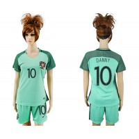 Women's Portugal #10 Danny Away Soccer Country Jersey