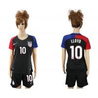 Women's USA #10 LLOYD Away Soccer Country Jersey