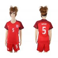 Women's USA #5 Besler Away Soccer Country Jersey